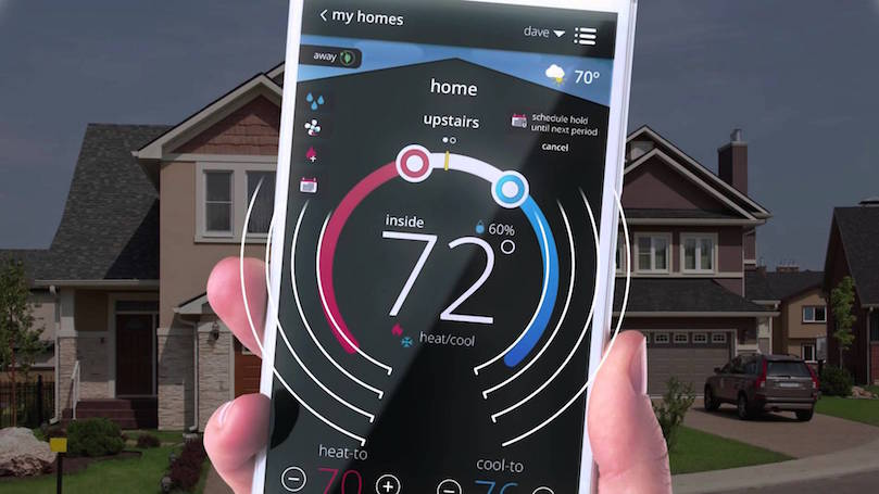 Smart thermostat connected with your phone